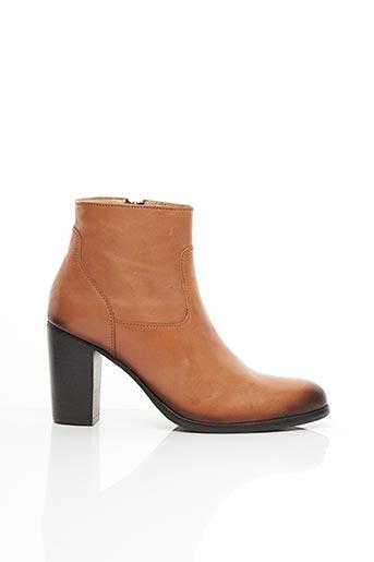 Bottines/Boots beige ATELIER BOWER pour femme