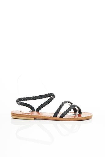 Sandales/Nu pieds noir DIEGA pour femme