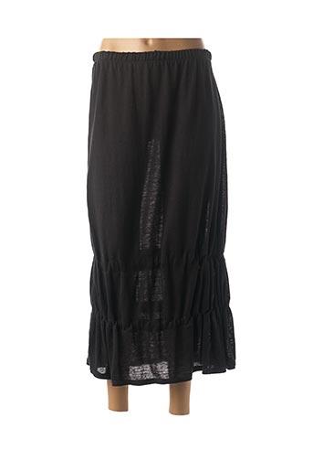 Jupe mi-longue noir SOPHIE CEPIERE pour femme