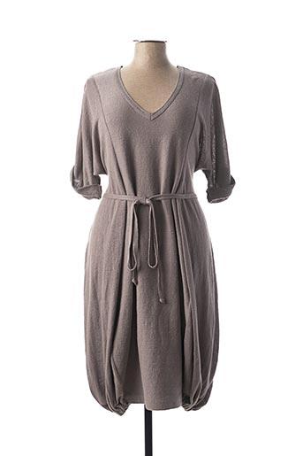 Robe mi-longue gris SOPHIE CEPIERE pour femme