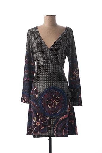 Robe mi-longue noir PALME pour femme