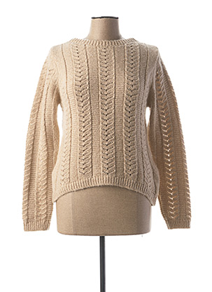 Pull col rond beige MAYORAL pour fille