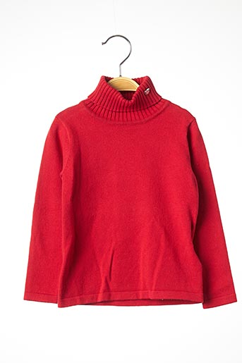 Pull col roulé rouge MAYORAL pour fille