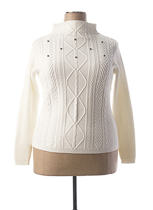 Pull col bénitier blanc BETTY BARCLAY pour femme