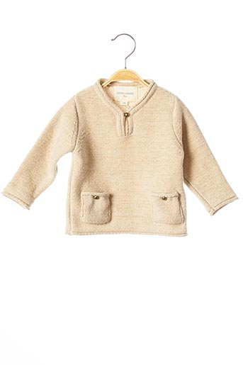 Pull col V beige LOUIS*LOUISE pour fille