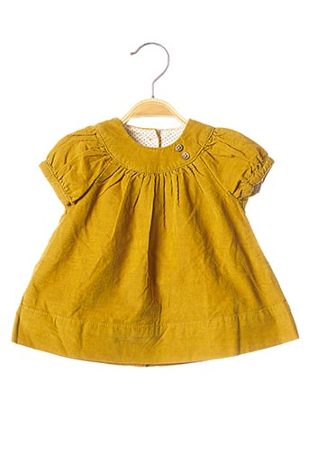 Robe mi-longue jaune PETIT BATEAU pour fille