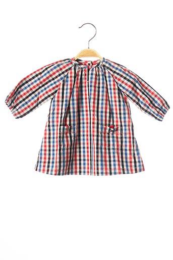 Robe mi-longue rouge PETIT BATEAU pour fille