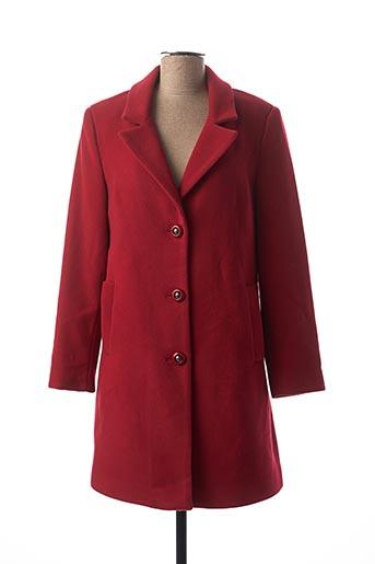 Manteau long rouge DIVAS pour femme