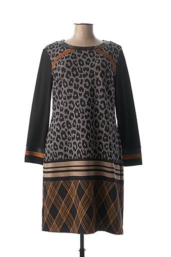 Robe mi-longue gris DIVAS pour femme