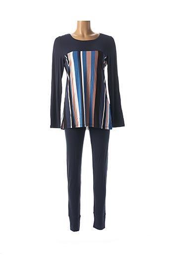 Pyjama bleu CHERIE LINE pour femme