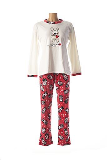 Pyjama rose MASSANA pour femme