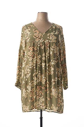Robe mi-longue vert C'MELODIE pour femme