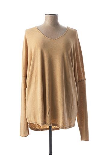 T-shirt manches longues beige C'MELODIE pour femme