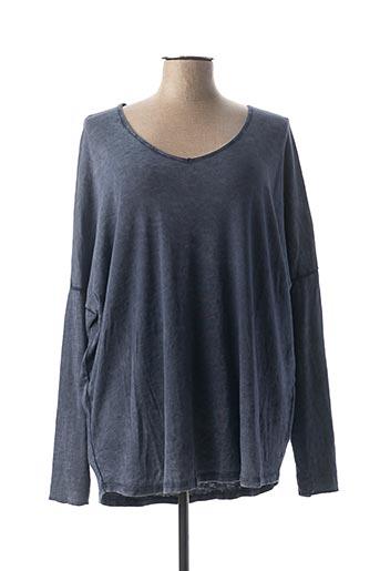 T-shirt manches longues bleu C'MELODIE pour femme
