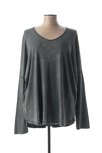 T-shirt manches longues gris C'MELODIE pour femme
