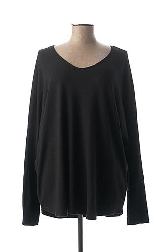 T-shirt manches longues noir C'MELODIE pour femme