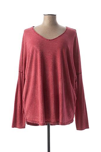 T-shirt manches longues rouge C'MELODIE pour femme
