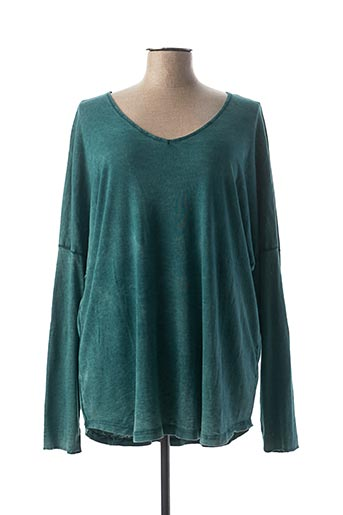 T-shirt manches longues vert C'MELODIE pour femme