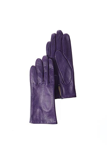 Gants violet ANDRE POUJADE pour femme
