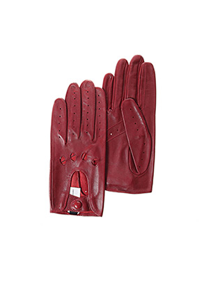 Gants rouge GLOVE STORY pour homme