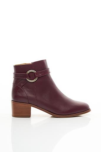 Bottines/Boots rouge BOBBIES pour femme