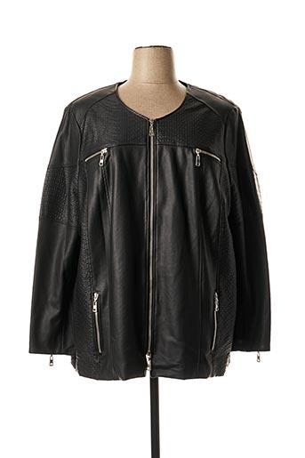 Veste simili cuir noir CHALOU pour femme