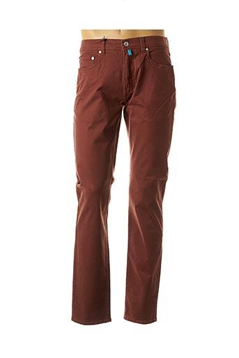 Jeans coupe droite marron PIERRE CARDIN pour homme