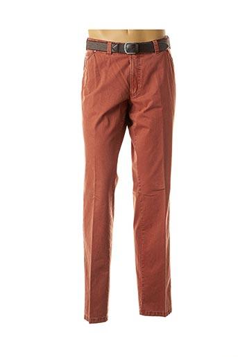 Pantalon casual orange LUIGI MORINI pour homme