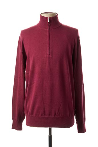 Pull col cheminée rose REDFIELD pour homme