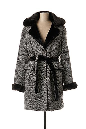 Manteau long noir B.STYLE pour femme
