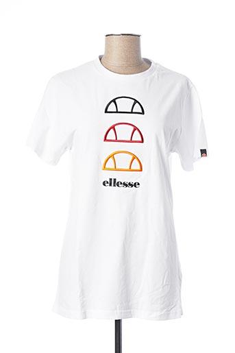 T-shirt manches courtes blanc ELLESSE pour femme