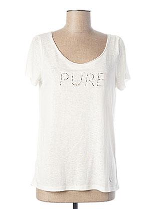 T-shirt manches courtes blanc LES P'TITES BOMBES pour femme