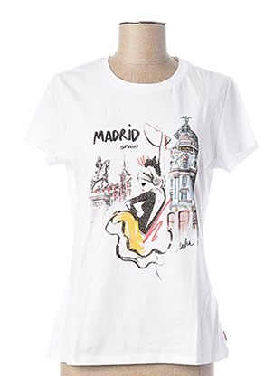 T-shirt manches courtes blanc SALSA pour femme