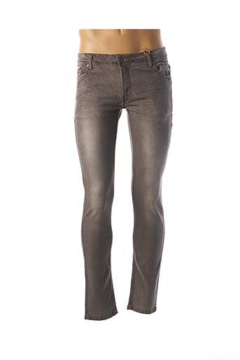 Jeans coupe slim gris HOPENLIFE pour homme
