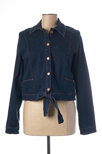 Veste en jean bleu MADO ET LES AUTRES pour femme