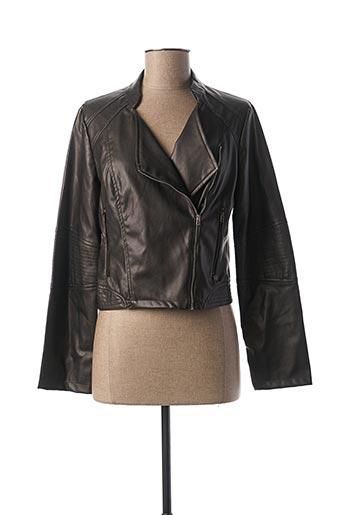 Veste simili cuir gris MADO ET LES AUTRES pour femme