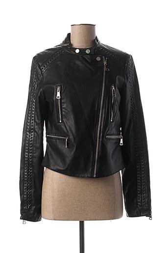 Veste simili cuir noir MADO ET LES AUTRES pour femme