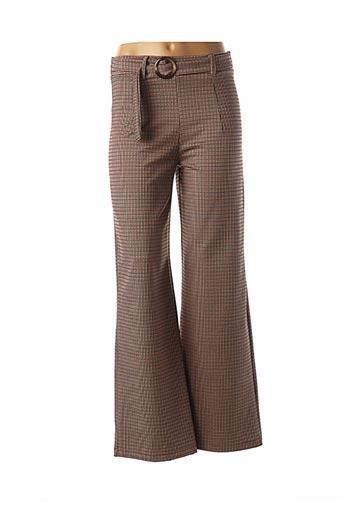 Pantalon chic marron MADO'S SISTER pour femme