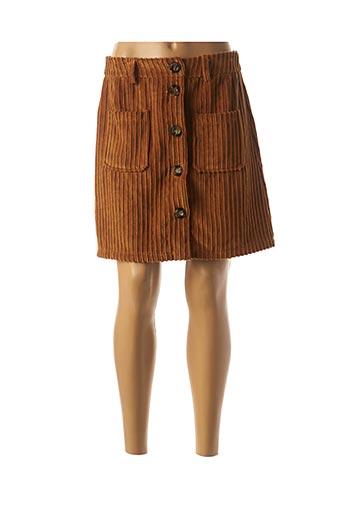 Jupe courte marron MINSK pour femme