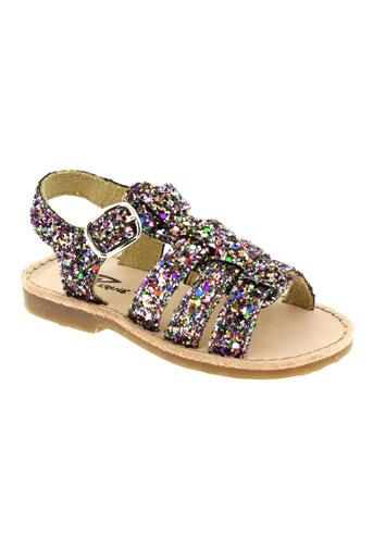 Sandales/Nu pieds violet REQINS pour fille