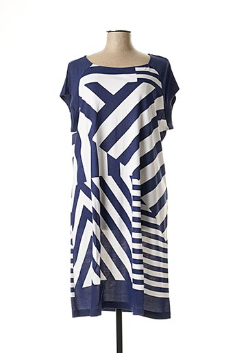 Robe mi-longue bleu EGATEX pour femme