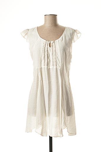 Tunique manches courtes blanc QUATTRO pour femme