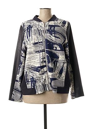 Veste casual bleu JEAN DELFIN pour femme