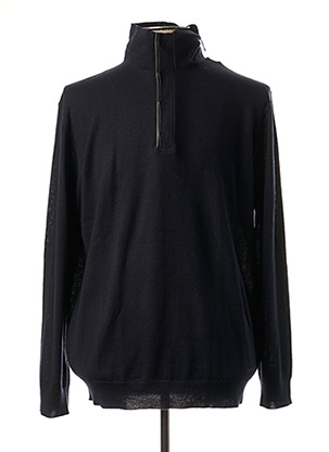 Pull col cheminée bleu KARL LAGERFELD pour homme