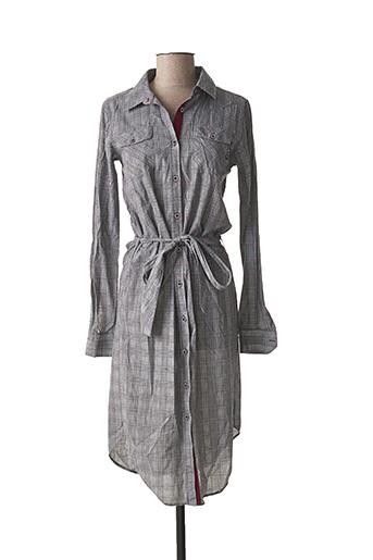Robe mi-longue gris BLACK WELLIS pour femme