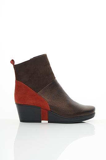 Bottines/Boots marron HIRICA pour femme