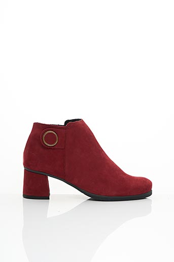Bottines/Boots rouge HIRICA pour femme