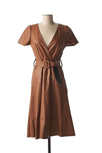 Robe mi-longue marron ATELIER JAD pour femme