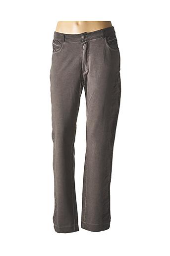 Pantalon casual gris MERI & ESCA pour femme