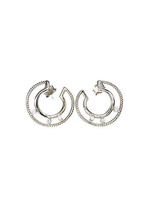 Boucles d'oreilles gris IKPS pour femme